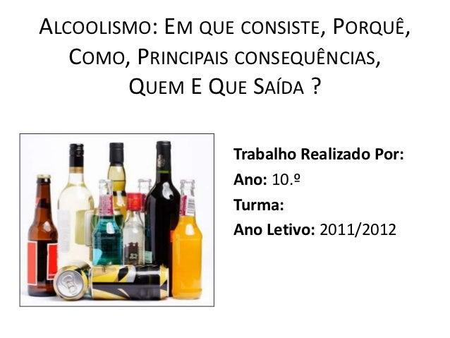 Conclusão de prevenção de alcoolismo