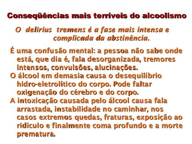 Que consequências de alcoolismo e inclinação de droga da personalidade
