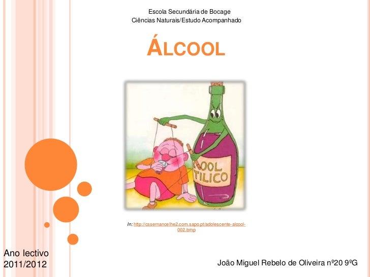 Escola Secundária de Bocage<br />Ciências Naturais/Estudo Acompanhado<br />Álcool<br />In: http://cssernancelhe2.com.sapo....