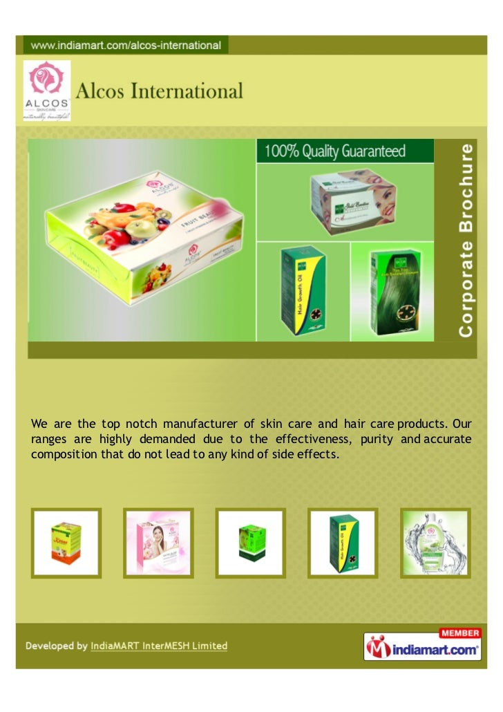 We are the top notch manufacturer of skin care and hair care products. Ourranges are highly demanded due to the effectiven...