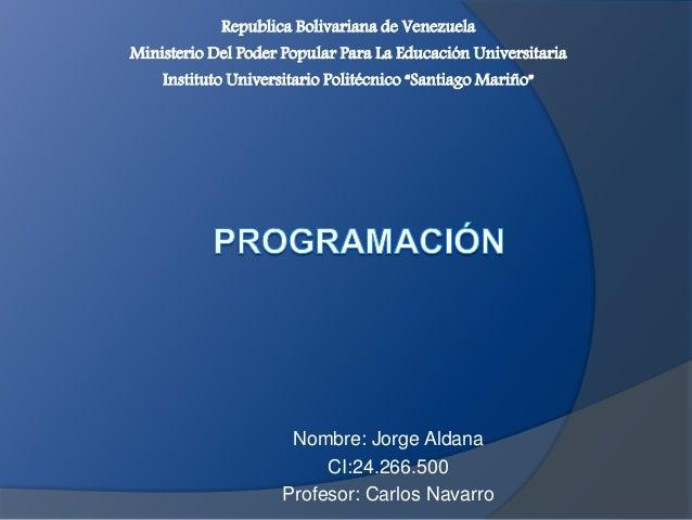 Republica Bolivariana de Venezuela  Ministerio Del Poder Popular Para La Educación Universitaria  Instituto Universitario ...