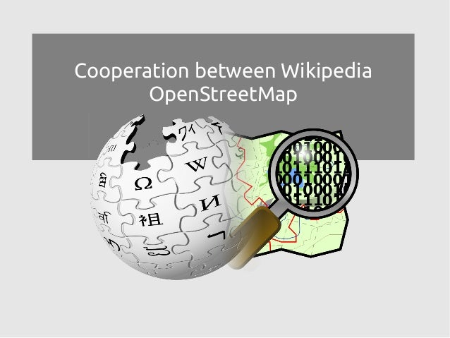 Cooperation between Wikipedia OpenStreetMap