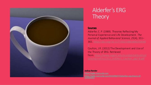 Alderfer's ERG Theory Joshua Render https://agile-mercurial.com https://agile-mercurial.com/2019/08/27/alderfers-erg-theor...