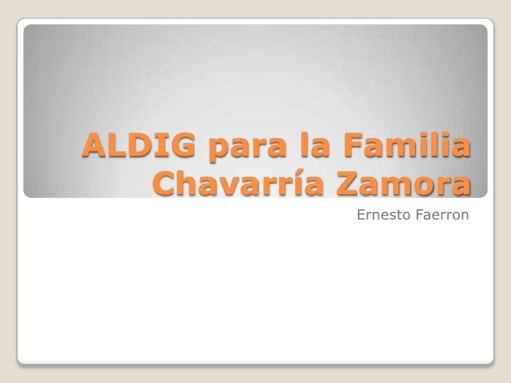 ALDIG para la Familia Chavarría Zamora<br />Ernesto Faerron<br />