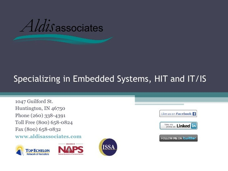 Specializing in Embedded Systems, HIT and IT/IS1047 Guilford St.Huntington, IN 46750Phone (260) 338-4391Toll Free (800) 65...