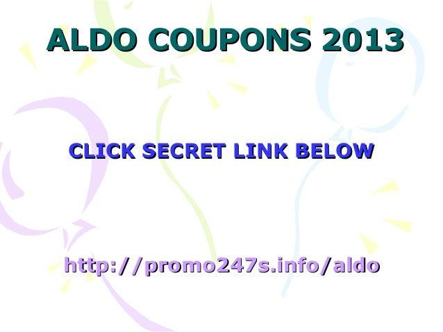 Aldo coupon code