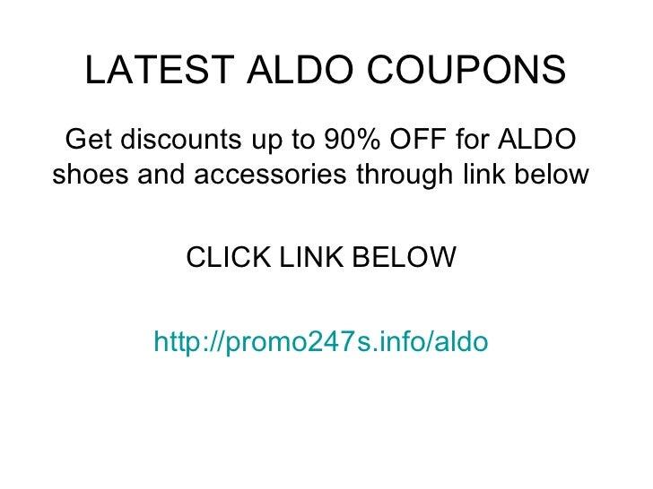 Aldoshoes coupon code