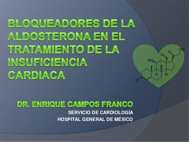 SERVICIO DE CARDIOLOGÍA HOSPITAL GENERAL DE MÉXICO