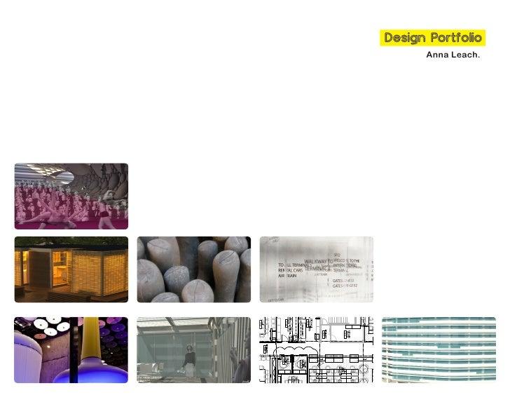 Design Portfolio      Anna Leach.