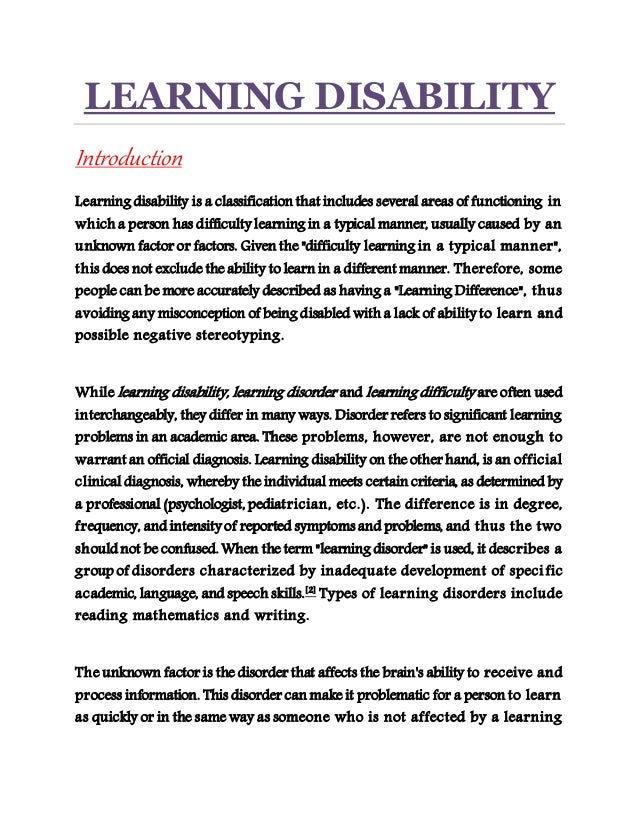 a learning disability Only 17% of college students with learning disabilities take advantage of  available resources on campus learn how to access the education you deserve.