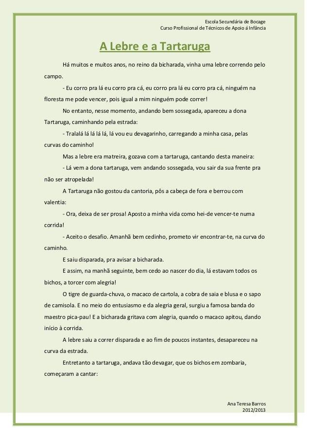 Escola Secundária de Bocage                                                Curso Profissional de Técnicos de Apoio á Infân...