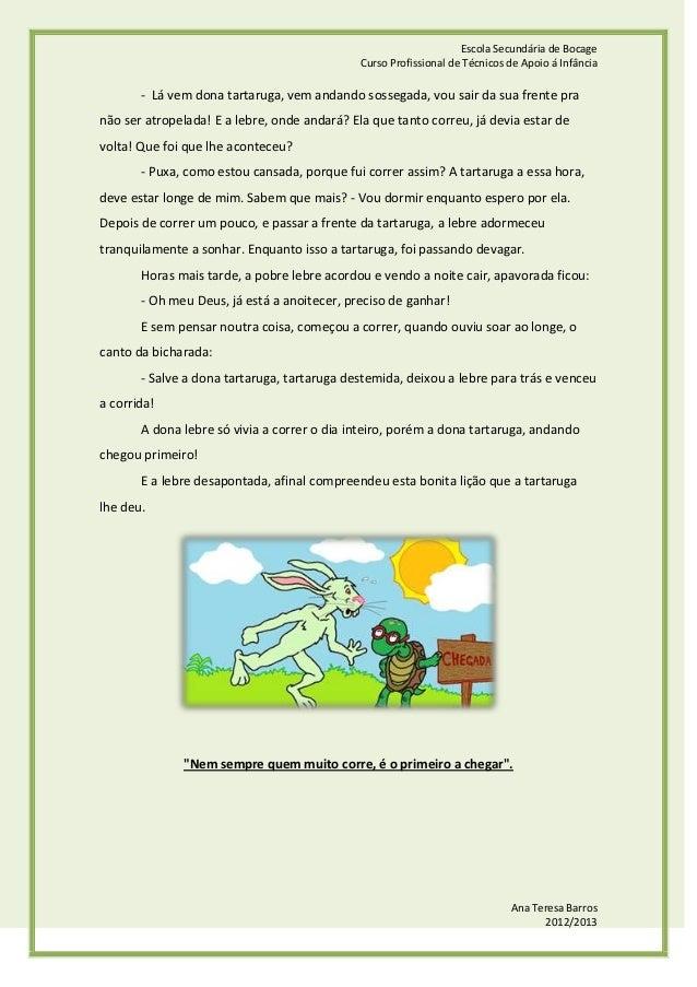 A lebre e a tartaruga Slide 2