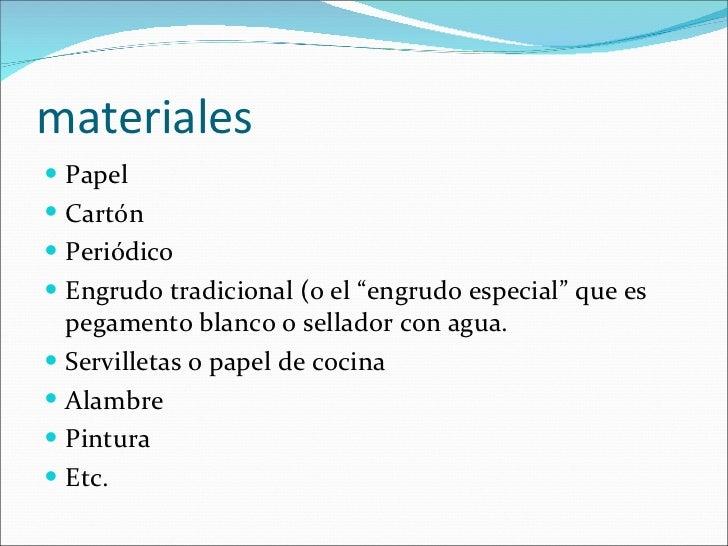 Alebrijes for Lista de materiales de cocina