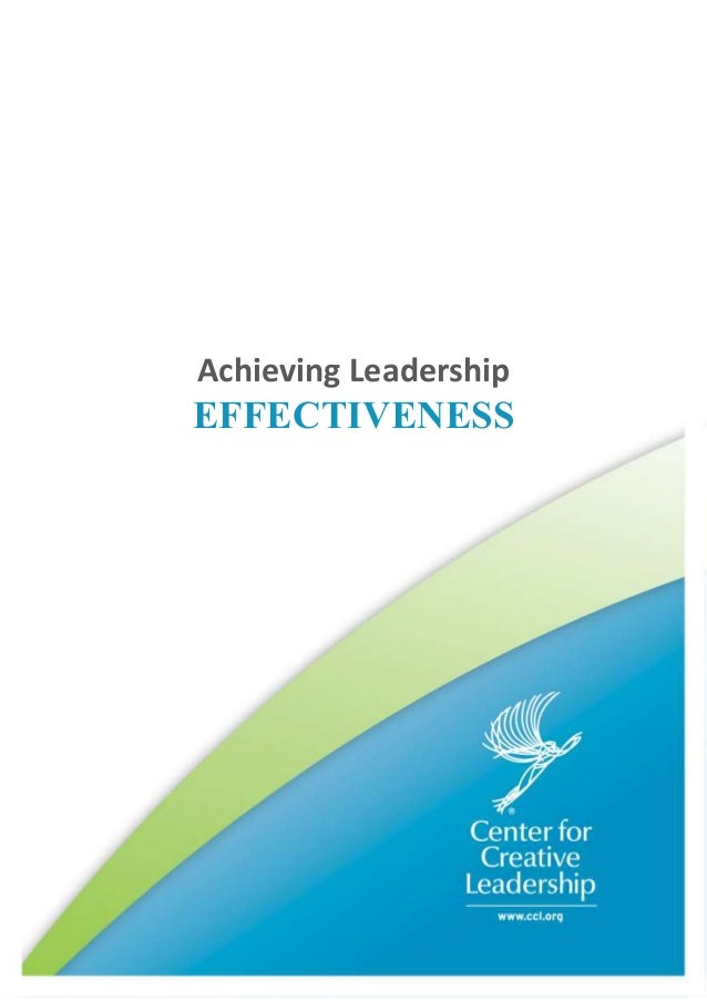 Achieving LeadershipEFFECTIVENESS