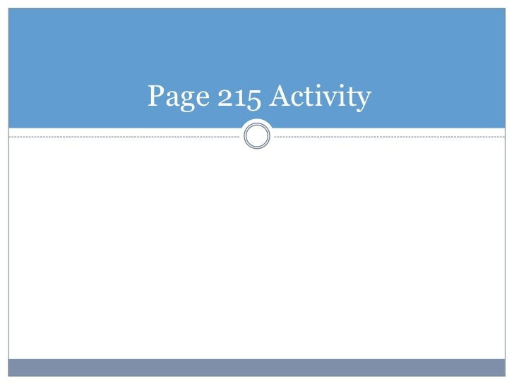 Page 215 Activity<br />