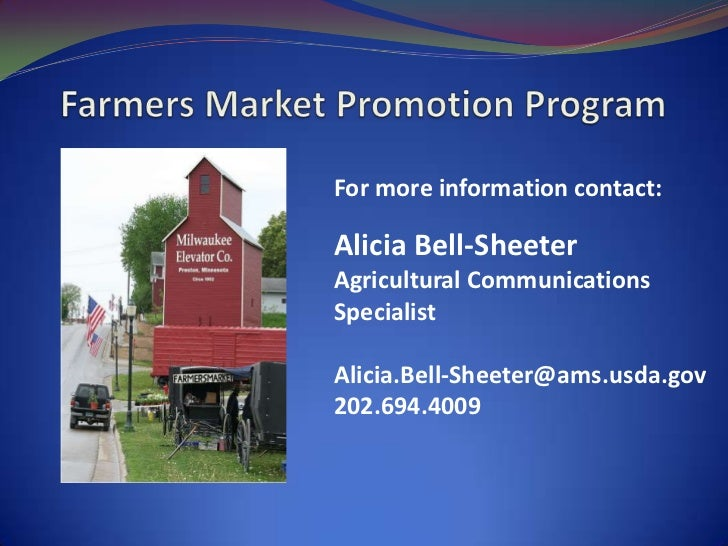Farmers Market And Local Food Promotion Program