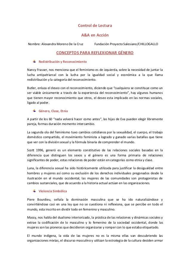 Control de Lectura                                      A&A en AcciónNombre: Alexandra Moreno De la Cruz            Fundac...
