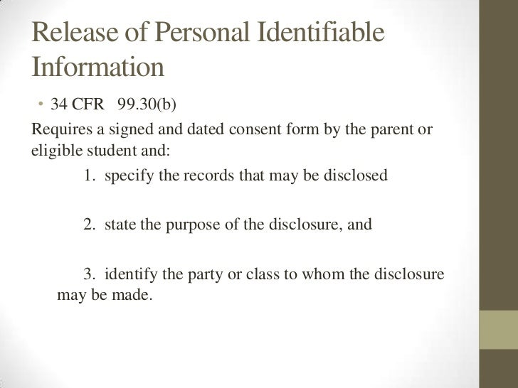 A legal guide for school counselor2 – Release of Personal Information Form