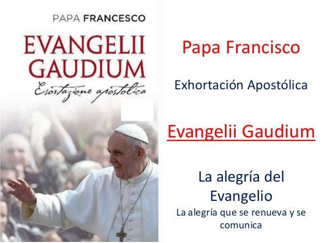 Papa Francisco Exhortación Apostólica Evangelii Gaudium La alegría del Evangelio La alegría que se renueva y se comunica