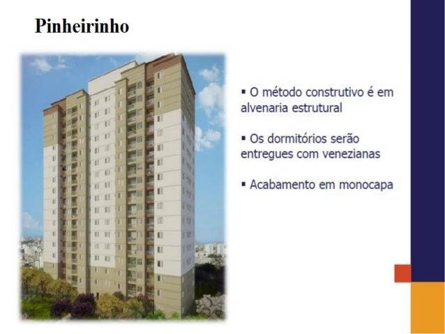 Pinheirinho  .  4'/  l I /  F O método construtivo é em /  ' alvenaria estrutural I I E OS dormitórios Serão _ entregues c...