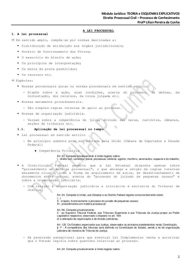 Módulo Jurídico: TEORIA e ESQUEMAS EXPLICATIVOS                                                                   Direito ...
