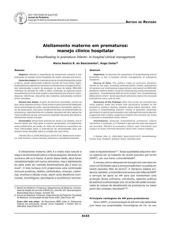 0021-7557/04/80-05-Supl/S163               Jornal de Pediatria               Copyright © 2004 by Sociedade Brasileira de P...