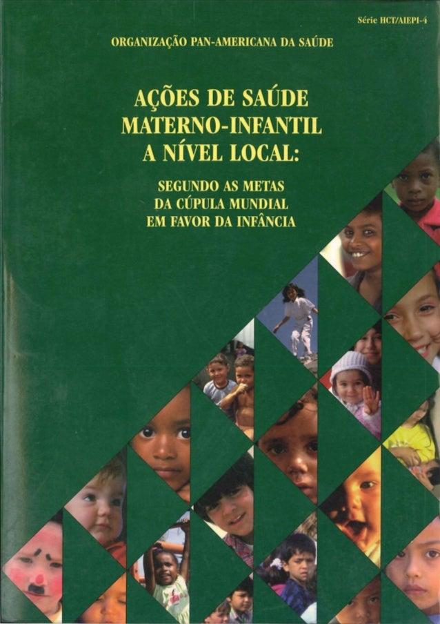 Aleitamento Materno nos Sistemas Locais de Saúde