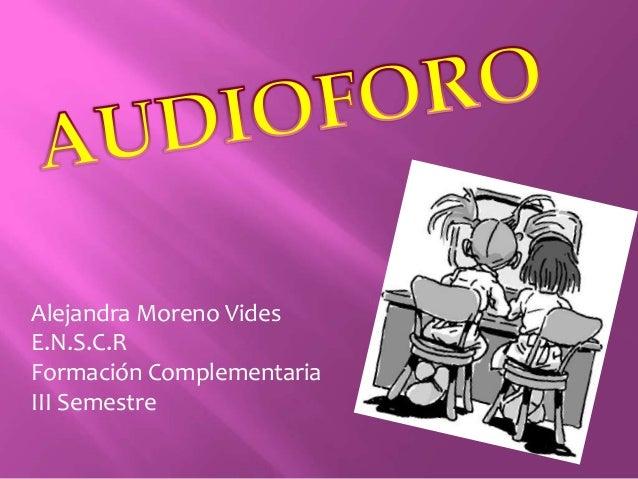 Alejandra Moreno Vides E.N.S.C.R Formación Complementaria III Semestre
