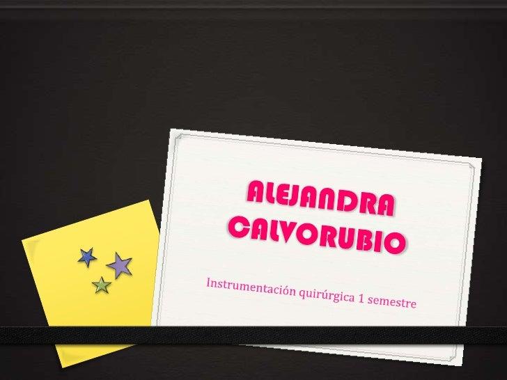 ALEJANDRA CALVORUBIO<br />Instrumentación quirúrgica 1 semestre <br />