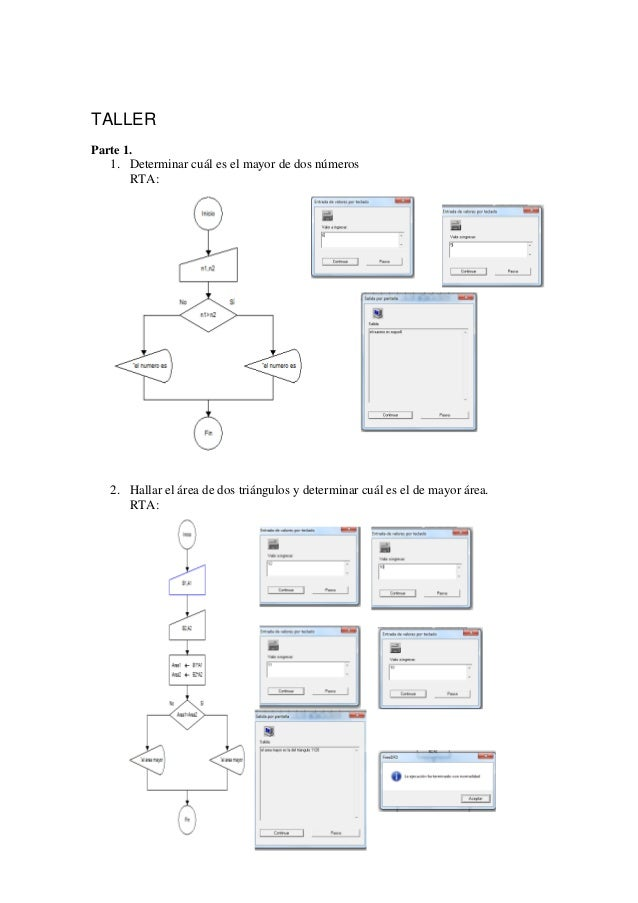 taller 1  diagrama de flujos