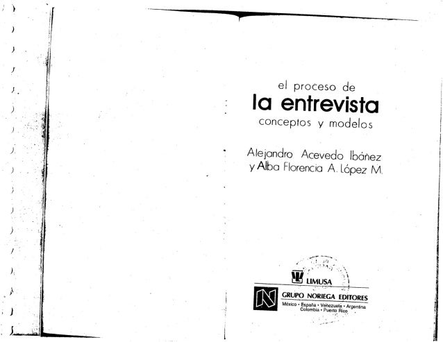 Alejandro Acevedo - El proceso de la entrevista; conceptos y modelos