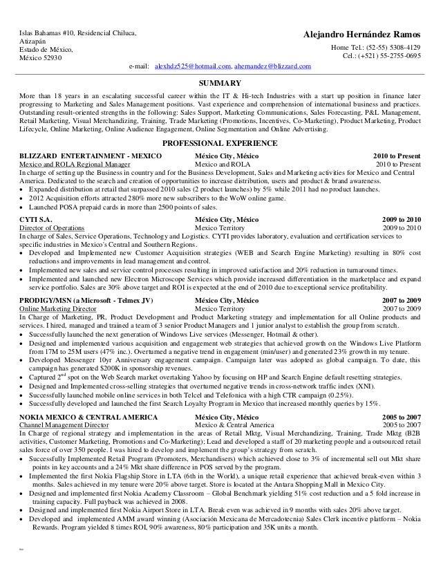 blizzard resume - Resma.kaptanband.co