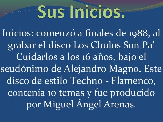 Carrera:Ganador de múltiplespremios musicales , en los cualesdestacan, Premio Amigo (España),Premio Ondas (España) ,World...