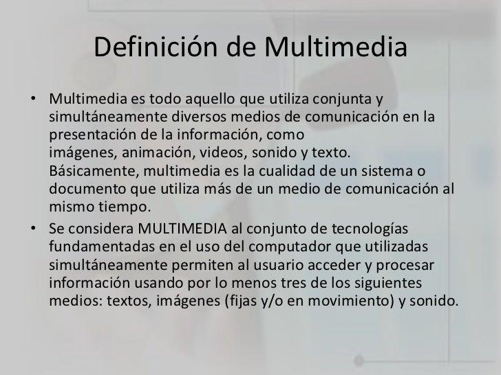 Alejandro terenzani est tica digital definiciones y - Definicion de multimedia ...