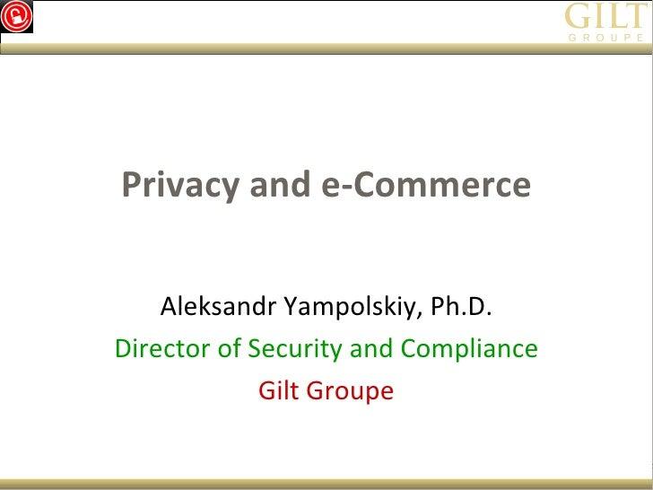 Aleksandr Yampolskiy Presentation