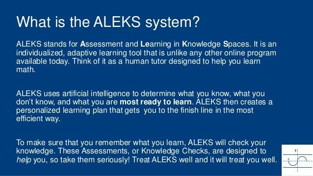 Aleks student orientation