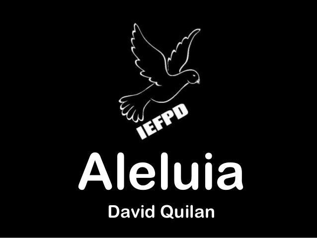 Aleluia David Quilan