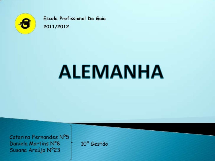 Escola Profissional De Gaia            2011/2012Catarina Fernandes Nº5Daniela Martins Nº8         10º GestãoSusana Araújo ...