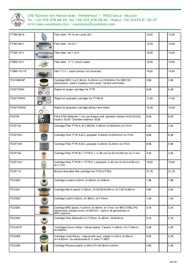 new pricelist with pictures for lpg parts and lpg kits rh slideshare net