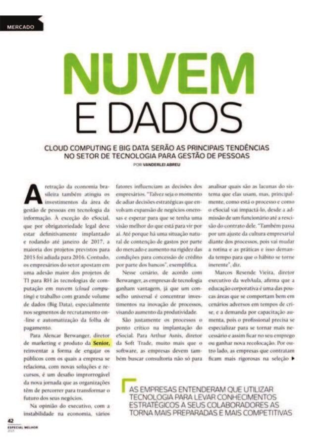 Revista Melhor Gestão de Pessoas | Nuvem e dados