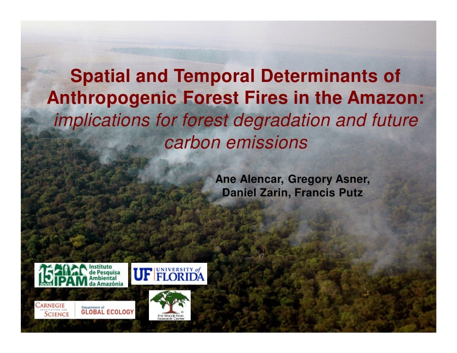 Spatial and Temporal Determinants ofAnthropogenic Forest Fires in the Amazon: implications for forest degradation and futu...