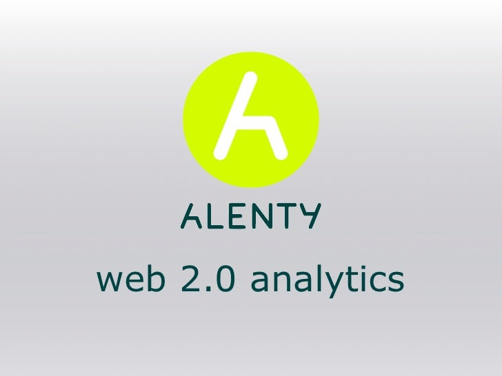 web 2.0 analytics