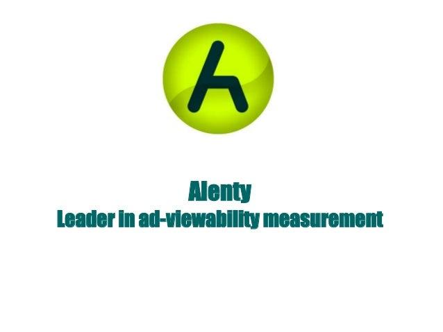 AlentyLeader in ad-viewability measurement