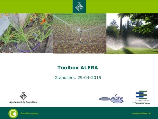 Toolbox ALERA Granollers, 29-04-2015