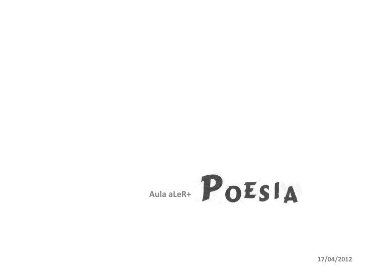 Aula aLeR+             17/04/2012