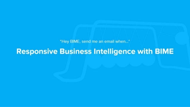 BIME Analytics: Alerts