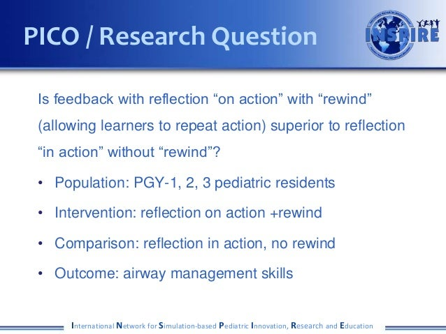 """Is feedback with reflection """"on action"""" with """"rewind"""" (allowing learners to repeat action) superior to reflection """"in acti..."""