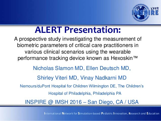 ALERT Presentation: A prospective study investigating the measurement of biometric parameters of critical care practitione...