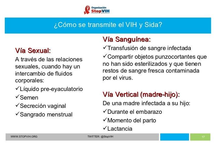 El sida no se transmite sexualmente