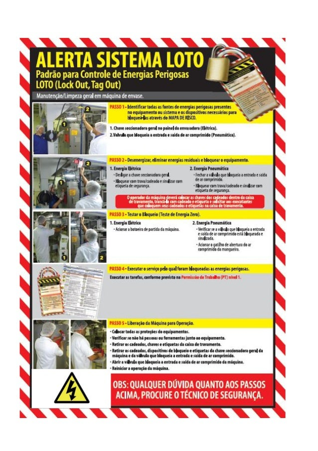 alerta de loto de m u00e1quinas e equipamentos